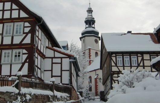 Winteridylle in Bad Salzschlirf © Touristik & Service GmbH Bad Salzschlirf